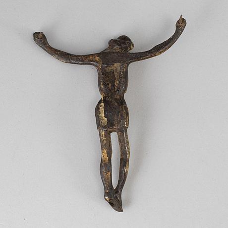 A bronze crucifix, probably 16th century.