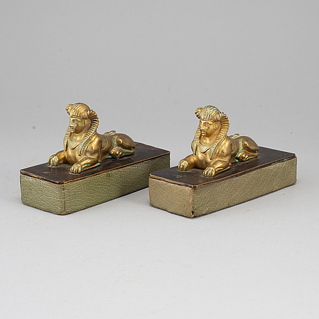 A pair of 19th century bronze sculptures.