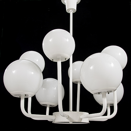 A late 20th-century ceiling light, 'bau rb 5578' for thorn orno.