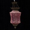 A late 19th century lamp for one caldle.