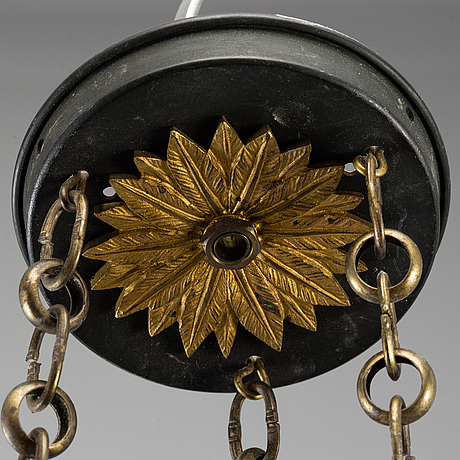 An empire style ceiling light, early 20th century.
