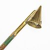 A 19th century brass candle snuffer.
