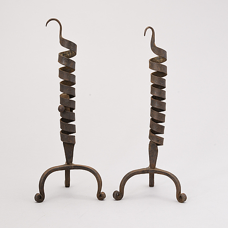 A pair of 18th-century candlesticks, central europe.