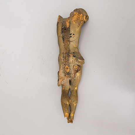 A wooden corpus, possibly 17-/18th century.