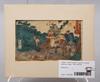 Parti konst, träsnitt, 5 st samt teckning, japan, 1800-1900-tal.