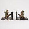 A pair of 1920'/1930's bookends, belgium.