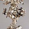 C.g. hallberg, a 7-flame silver candelabrum, mark of cg hallberg gothenburg, sweden 1863.