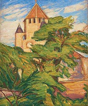 KARL NORDSTRÖM, oil on canvas, signed KN. Also signed Karl Nordström and dated 1921 on the stretcher.