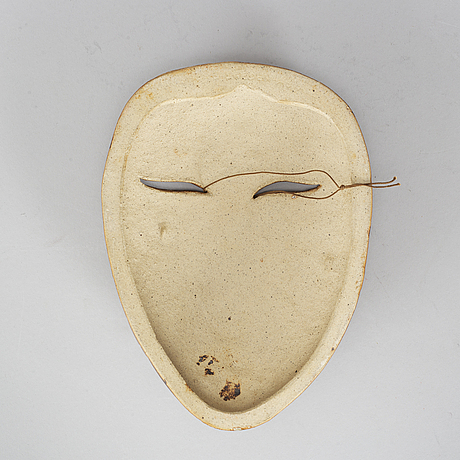 Lisa larson, a stoneware mask.