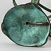 Bordslampa, brons, jugend, böhlmarks, 1907-24.