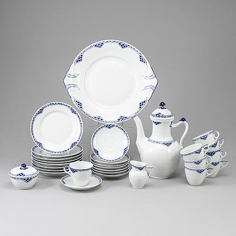 A 20-parts of coffee porcelain tableware 'princess' royal copenhagen.