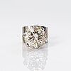 A 18k white gold earring with a brilliant cut diamond ca. 0.5 ct.