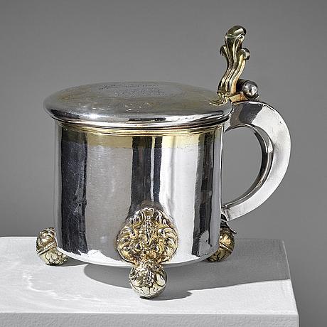 Christopher richter, a baroque parcel-gilt silver tankard, stockholm 1691.