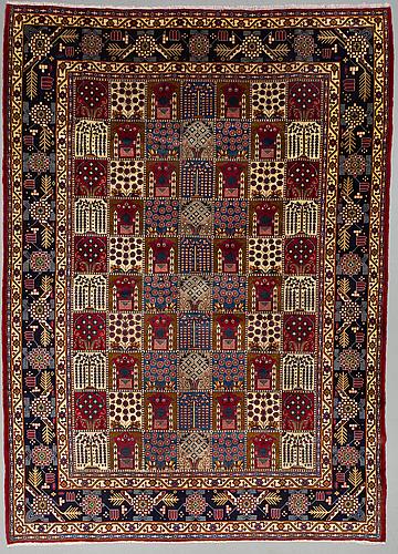 A carpet, yazd, ca 415 x 294 cm.