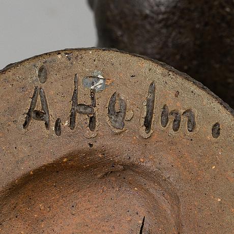 Åke holm, three stoneware item, signed Åke holm.