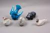 Figuriner, 5 st, porslin, stengods, bla nylund.