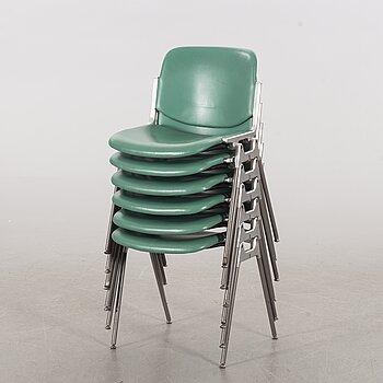 GIANCARLO PIRETTI, a set of 6 chairs by Giancarlo Piretti for Castelli Italy.