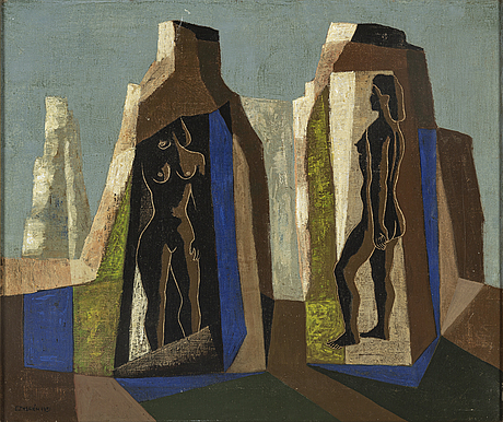 Esaias thorÉn, oil on canvas, signed and dated 1951.