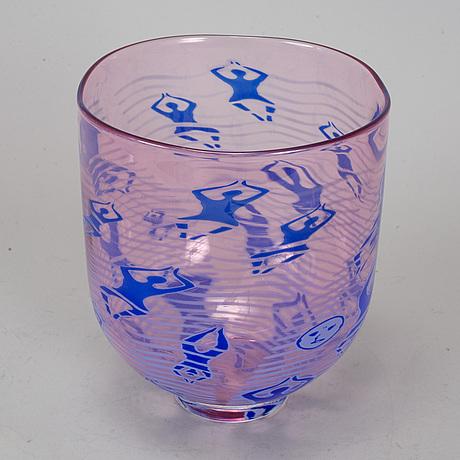 Erika lagerbielke, a glass graal vase, orrefors, 2007.