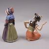 Figuriner, 2 st, porslin, dahl jensen, danmark.