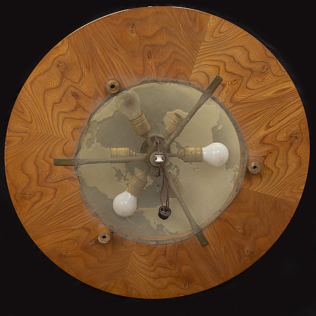 A 1930s ceiling light by birger ekman, mjölby intarsia, sweden.