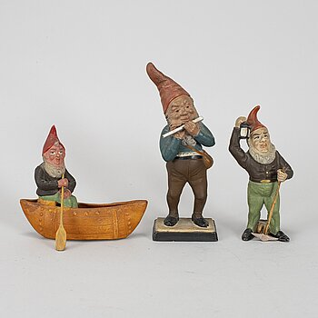 Three German Santa figurines, 1920's/30's..