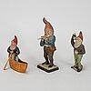 Three german santa figurines, 1920's/30's..