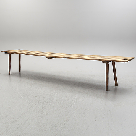 A pine table/bench, 19th century.