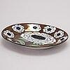 "Birger kaipiainen, ceramic fiori dish, marked ""birger kaipiainen, arabia art made in finland 1983"", numbered 40/2000."