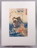 Utagawa kuniyoshi, träsnitt, 2 st.