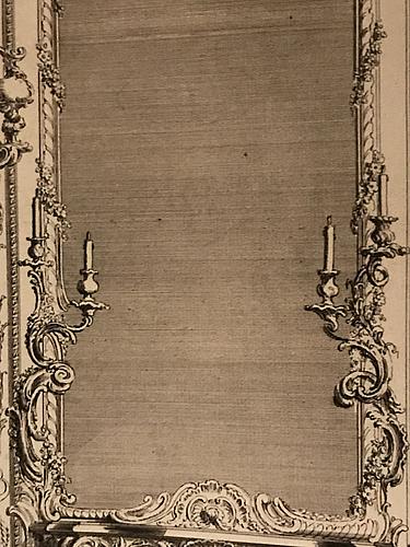 A pair of louis xv mid 18th century three-light wall-lights.