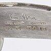 A silver brooch by wiwen nilsson, lund 1974.