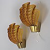 A pair of 1940s swedish modern wall scones, asea.