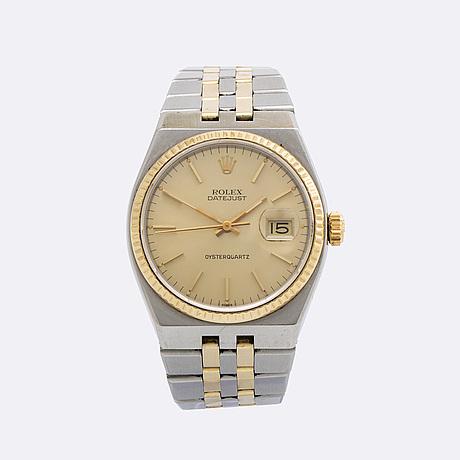 Rolex, oysterquartz datejust, wristwatch, 36 mm.