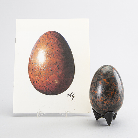Hans hedberg, ägg, starkeldsfajans, biot, frankrike, signerat.