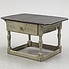 A painted pine table, 19th century.