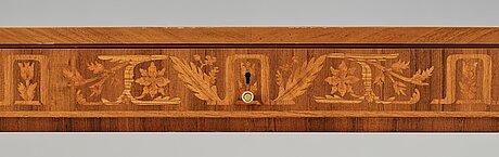 Carl malmsten, a mahogany swedish grace partner's desk, Åtvidaberg, sweden circa 1934.