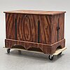 A painted pine chest, 19th century.