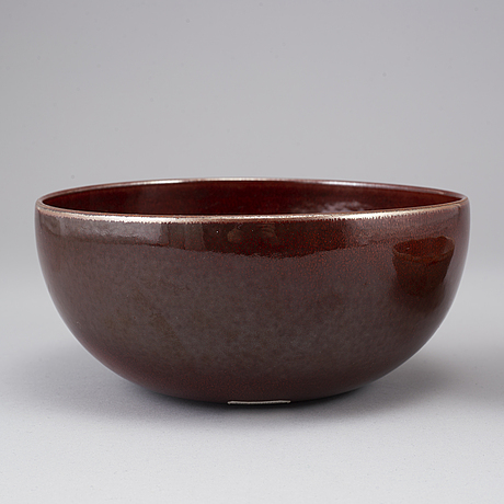 Carl-harry stÅlhane, two unique stoneware bowls, rörstrand, signed and dated -59 & 60.