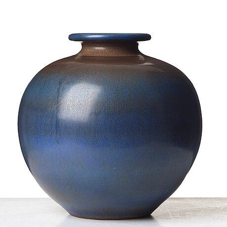 Berndt friberg, a large stoneware  vase, gustavsberg studio, sweden 1965.