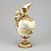 A royal worcester victorian hand painted porcelain ewer by john stinton jr, model 1265, late 19th century.