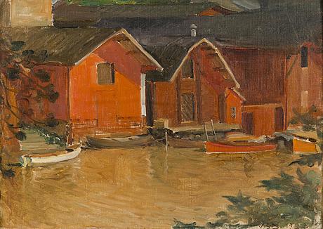 Venny soldan-brofeldt, at porvoo river.