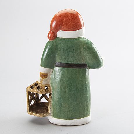 Lisa larson,  figurine/candleholder, stoneware, gustavsberg.