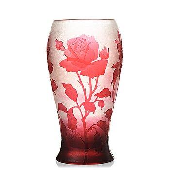 2. Karl Lindeberg, an Art Nouveau cameo glass vase, Kosta early 20th century.
