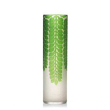 3. Karl Lindeberg, an Art Nouveau cameo glass vase, Kosta early 20th century.