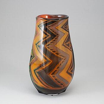 EVA ENGLUND, a glass vase, Orrefors, Sweden 1989.