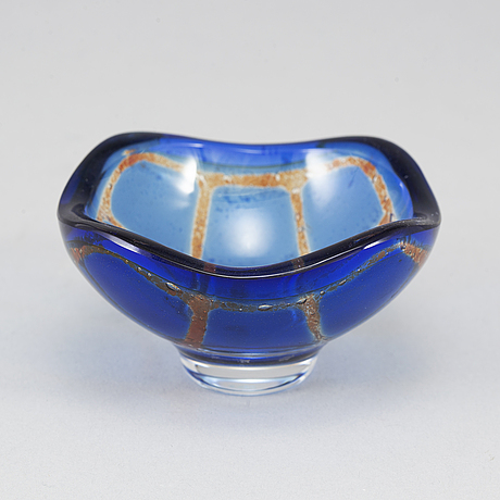 "Sven palmqvist, a ""ravenna"" glass bowl, orrefors 1970."