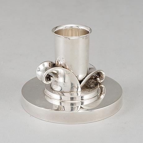 Evald nielsen, a danish silver candlestick.