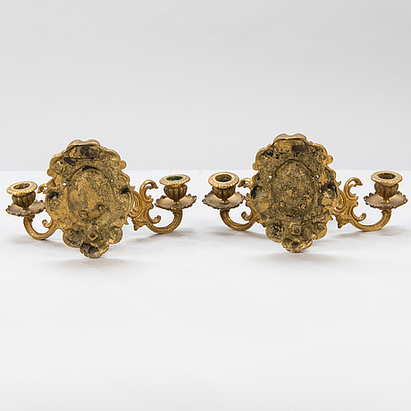 A pair of wall sconces from the last quarter of the 19th century.