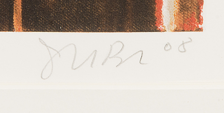Juba tuomola, serigraph, signed and dated 2008. numbered 149/175.